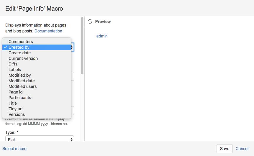 Page Info Macro